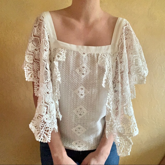 Jen's Pirate Booty Tops - Jens Pirate Booty White Lace Top